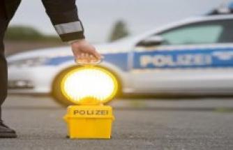 Polizeiinspektion Sankt Ingbert: Graffiti in the street Behind the gardens