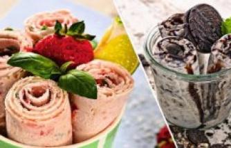 Refreshing Ice Cream Rolls do-it-yourself – with Oreo, Basil or chocolate