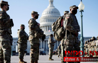National Guard troops being vetted Because they arrive to Protect Capitol
