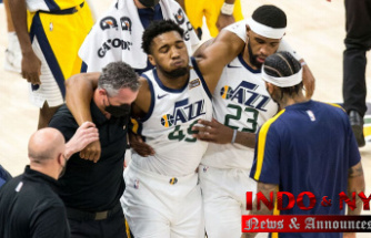 Utah Jazz star Donovan Mitchell exits game with ankle injury, X-rays negative, sources say
