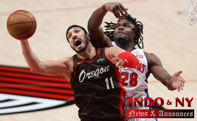 Enes Kanter sets Portland Trail Blazers' record with 30 rebounds in win over Detroit Pistons
