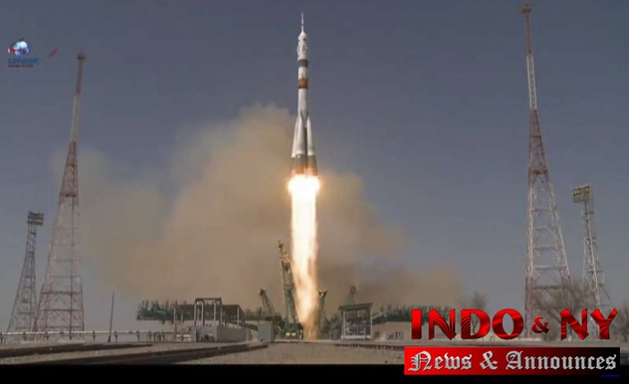 American, Russians Pier at International Space Station